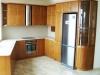 Заоблена кухня мдф с фурнир