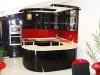 Овална кухня черен гланц